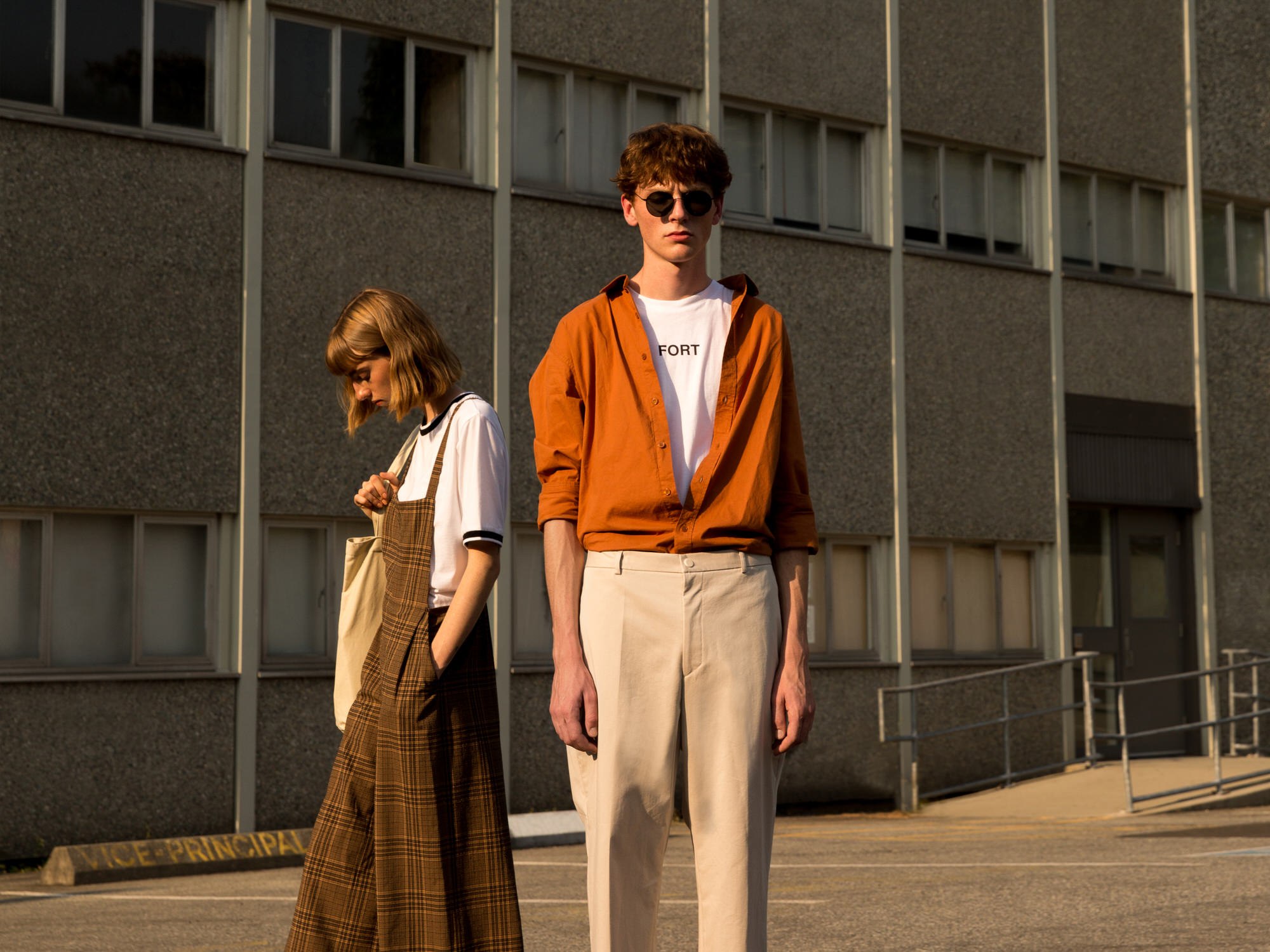 Mens womens contemporary minimal casual apparel