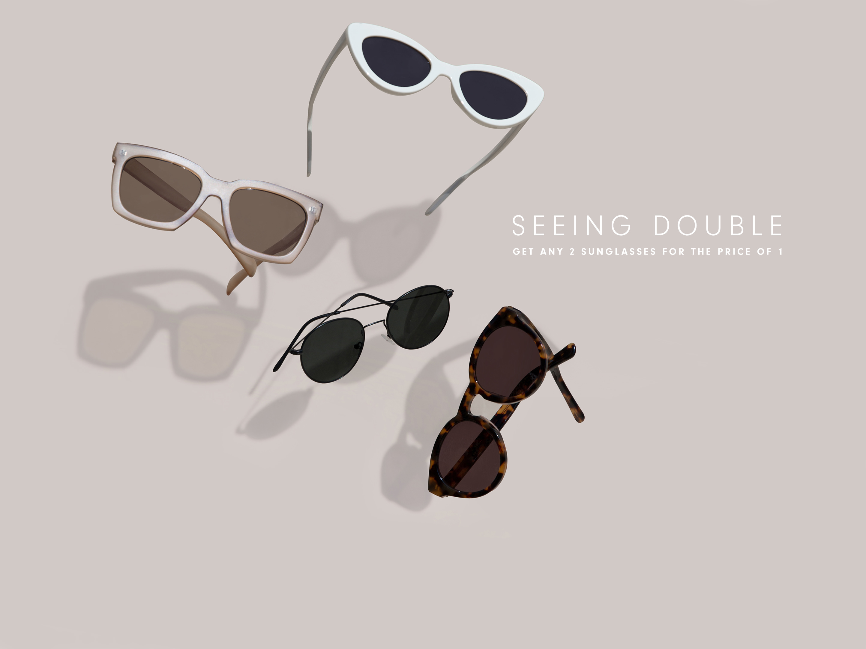 Sunglasses sale buy one get one