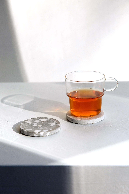 Clear Glass Mug 3135 White 2