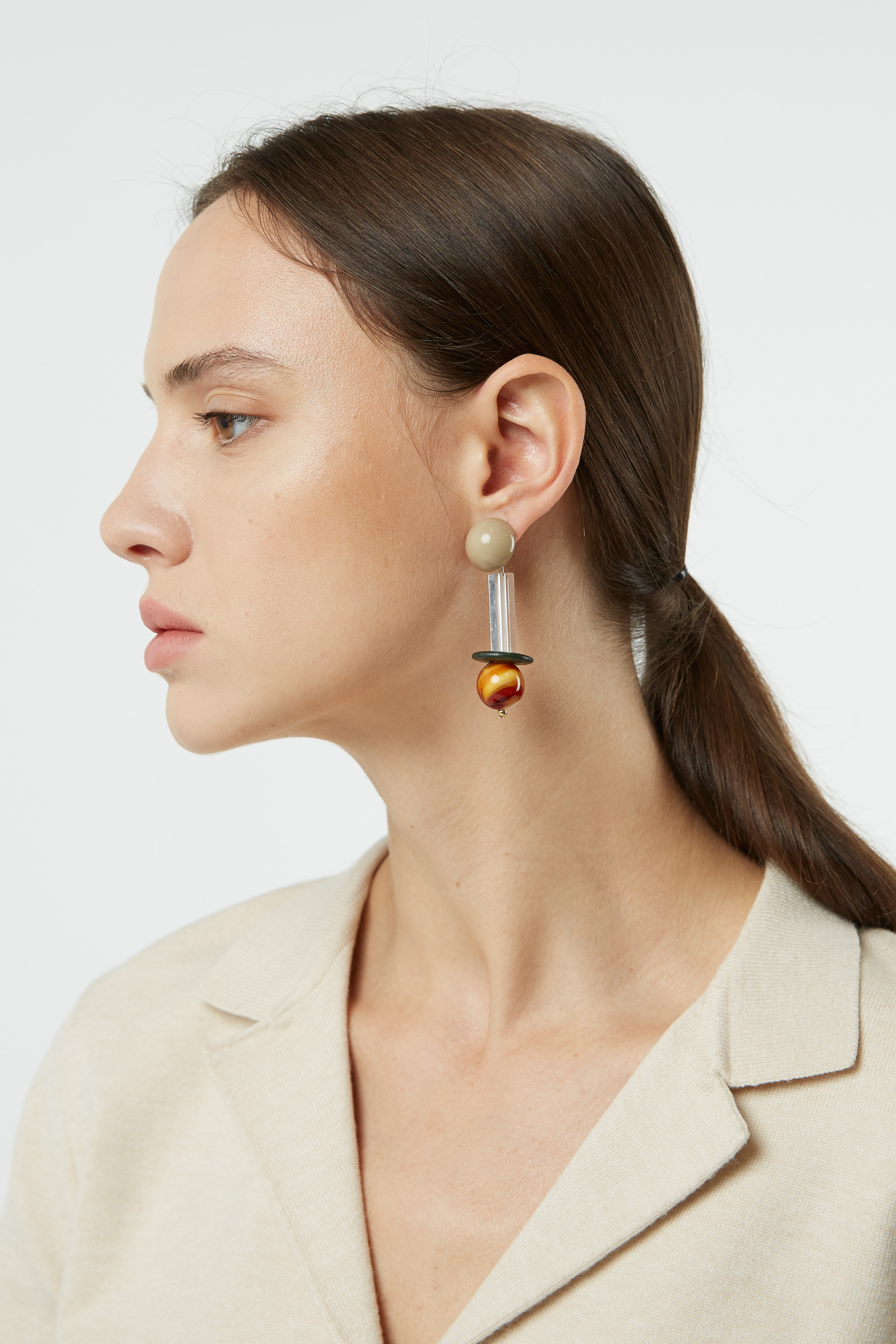 Earring H382 Brown 1
