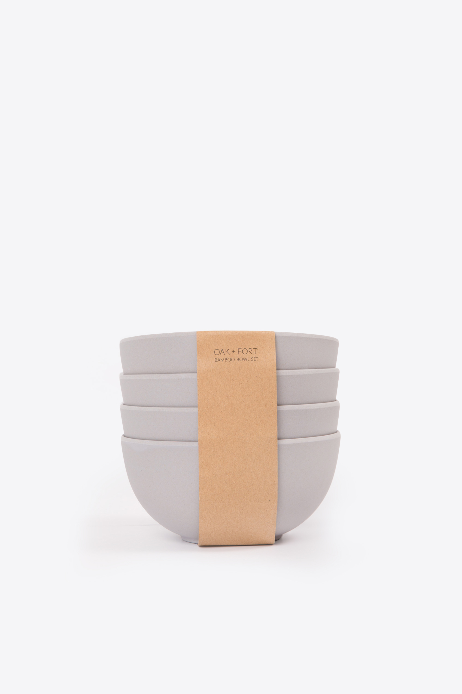Large Bamboo Bowl Set 2857 Gray 2
