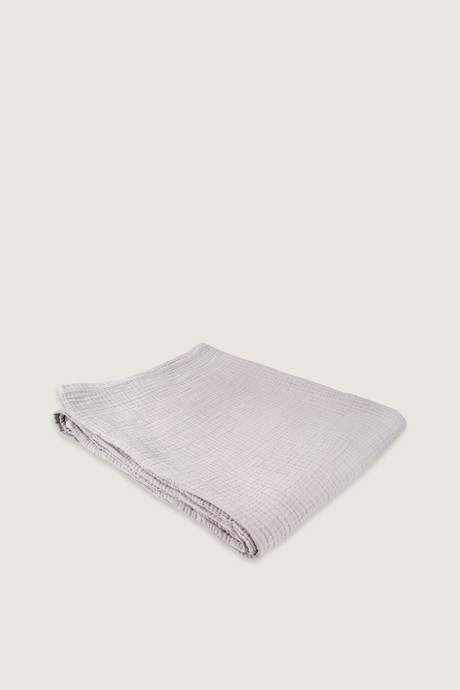 Light Gray Cotton Throw H00 Light Gray 2