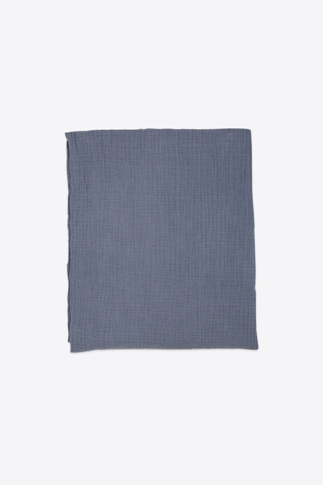 Navy Cotton Throw H00 Navy 3