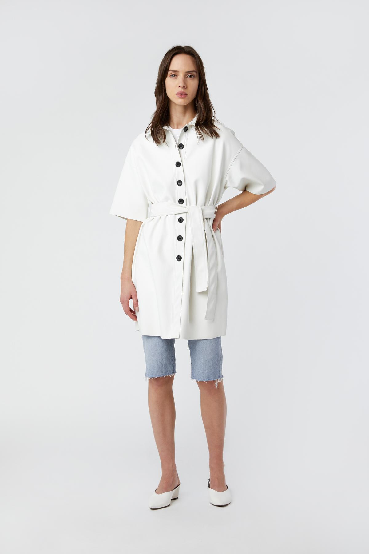 Shirt Dress J009 Cream 1