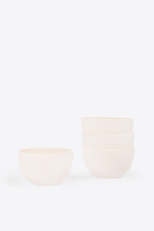 Small Bamboo Bowl Set 2855 Cream 3