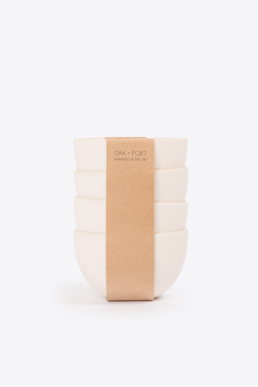 Small Bamboo Bowl Set 2855 Cream 4