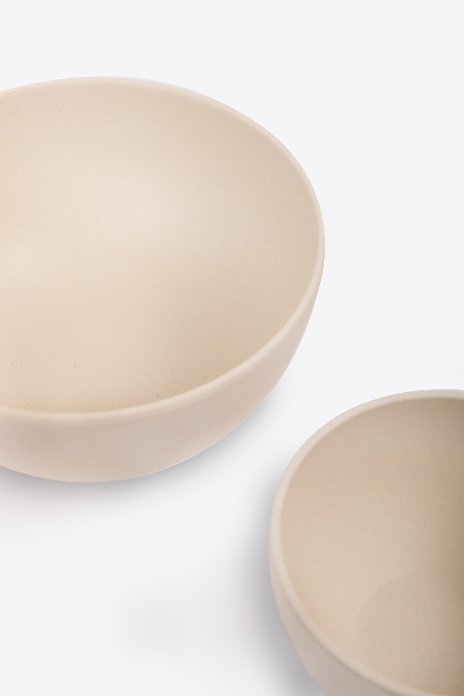 Small Bamboo Bowl Set 2855 Cream 6