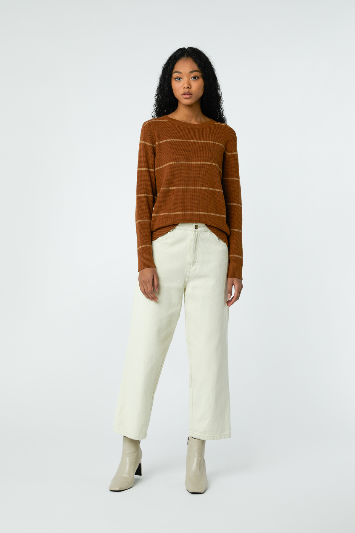 Sweater 24272019 Brown Stripe 1