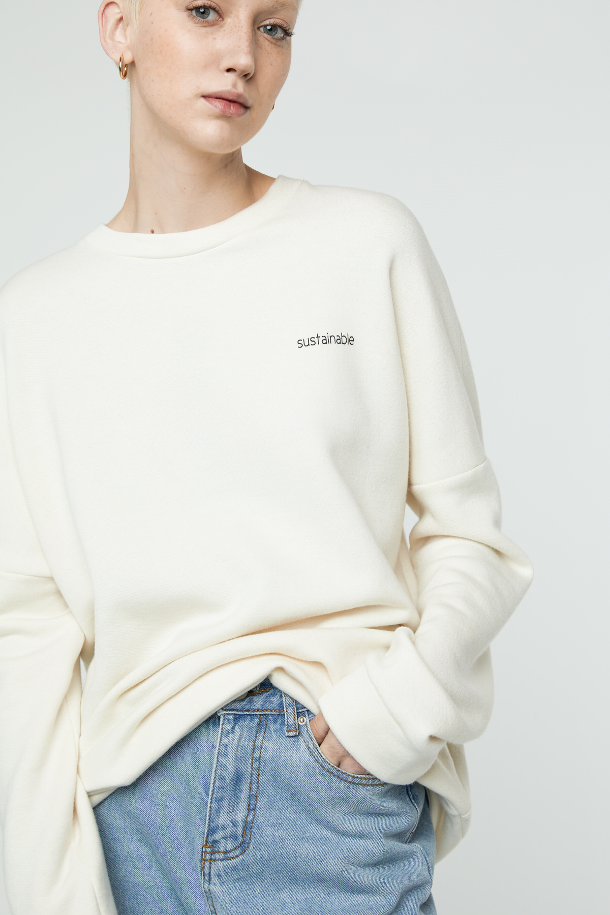 Sweatshirt 3302 Cream 1
