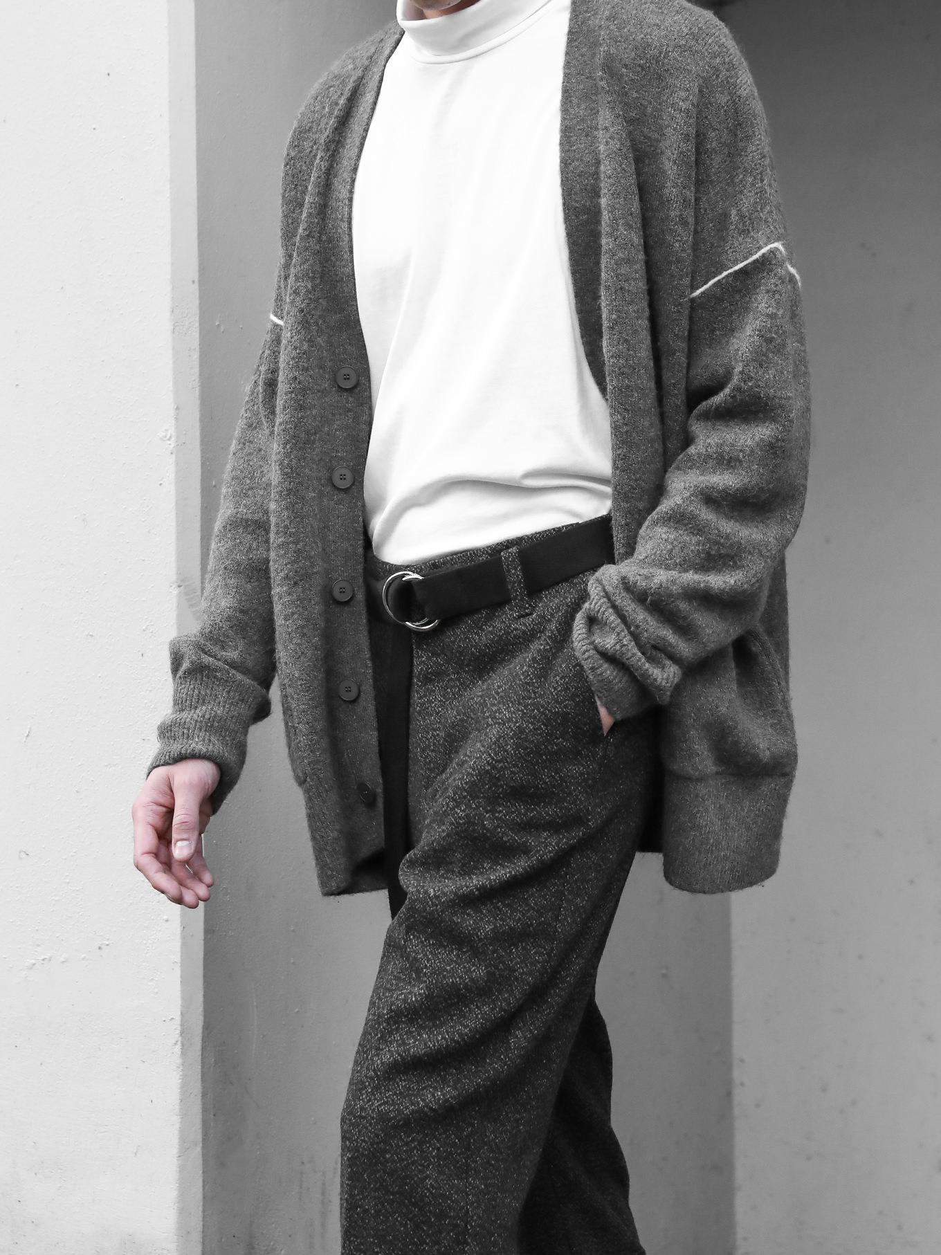 Mens basic cardigan casual clothing